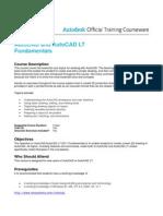 Autocad Fundamentals Syllabus