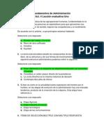 Act. 4 Lección evaluativa 1 - Fundamentos de Administración
