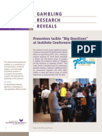 Gambling Research Reveals - Issue 4, Volume 10 - April / May 2011