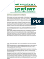 Sparking a Grey-To-Green Revolution for Dry Areas (28 April 2001)-28 Years of ICRISAT's Partnership-Based Research Across the Semi-Arid Tropics. (a Reference to Ankapur Village)