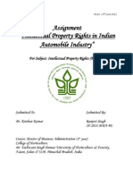 IPR_Assignment_Intellectual Property Rights in Indian Automotive Industry