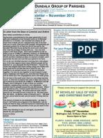 Parish Newsletter - November 2012