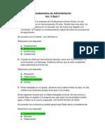 Act. 5 Quiz 1 - Fundamentos de Administración