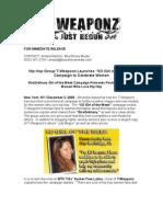 T-Weaponz XO Girl Press Release 120308