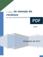 Plan de Manejo en una vivienda del Distrito Federal