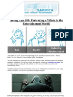 Portraying a Villain in the Entertainment World