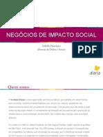 Negócios de impacto social - Instituto Alana