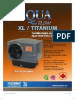 Bombas de Calor AQUA FLOW XL / TITANIUM