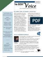 The BSK Voice, Vol. 9, No. 1 (Spring 2012)