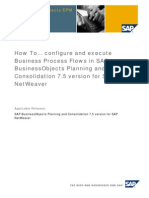 How To Configure and Execute Business Process Flows in SAP BusinessObjects Planning and Consolidation