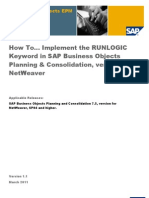 How To... Implement the RUNLOGIC Keyword in BPC NetWeaver