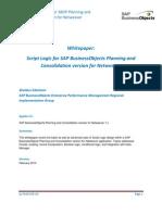 Script Logic Primer - Planning and Consolidation Version for Netweaver