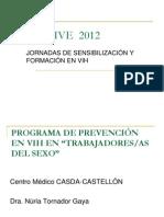 Convihve 2012. Prevencion en Vih en Personas Trabajadores o Trabajadoras Del Sexo. Casda