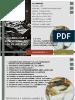 EQUIPOS Y MATERIALES PARA ARCHIVO CONSERVACION Y RESTAURACION DE IMÁGENES Y DOCUMENTOS