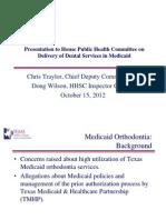 Chris Taylor-Doug Wilson HHSC Handout 10-15-2012