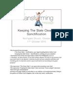 Keeping the Slate Clean Sanctification