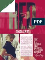 Taylor Swift - Red Digital Booklet