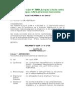 Ds 047-2004 Ef_reglamento Ley_28194