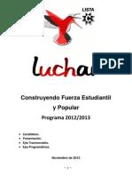 Programa LUCHAR 2012-2013 - Final