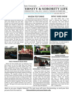 Missouri State Fraternity and Sorority Life Newsletter - Fall 12' Issue 3