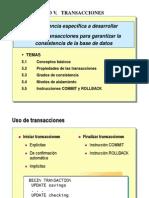5.- Administracion de Transacciones