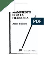 Badiou Manifiesto Por La Filosofia OCR