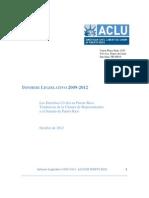 INFORME LEGISLATIVO 2009-2012 ACLU Puerto Rico