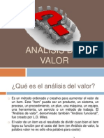ANÀLISIS DEL VALOR