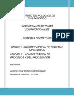 Unidad i y II de Sistemas Operativos