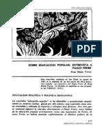 Entrevista Paulo Freire por Rosa María Torres