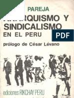 Anarquismo y Sindicalismo en El Peru - Piedad Pareja