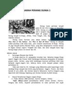 Sejarah Perang Dunia 1