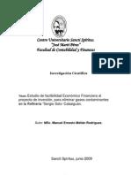 Estudio de Factibilidad Econ Mico Financiera en Proyecto de Inversi n