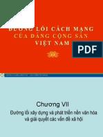 Đường lối ĐCS Chương VII