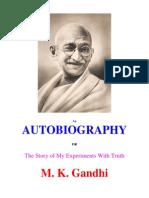 Autobiography of Mahatma Gandhi