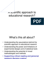 A Scientific Approach to Educational Research EdD 12