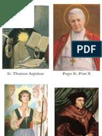All Saints Scavenger Hunt Saint Cards