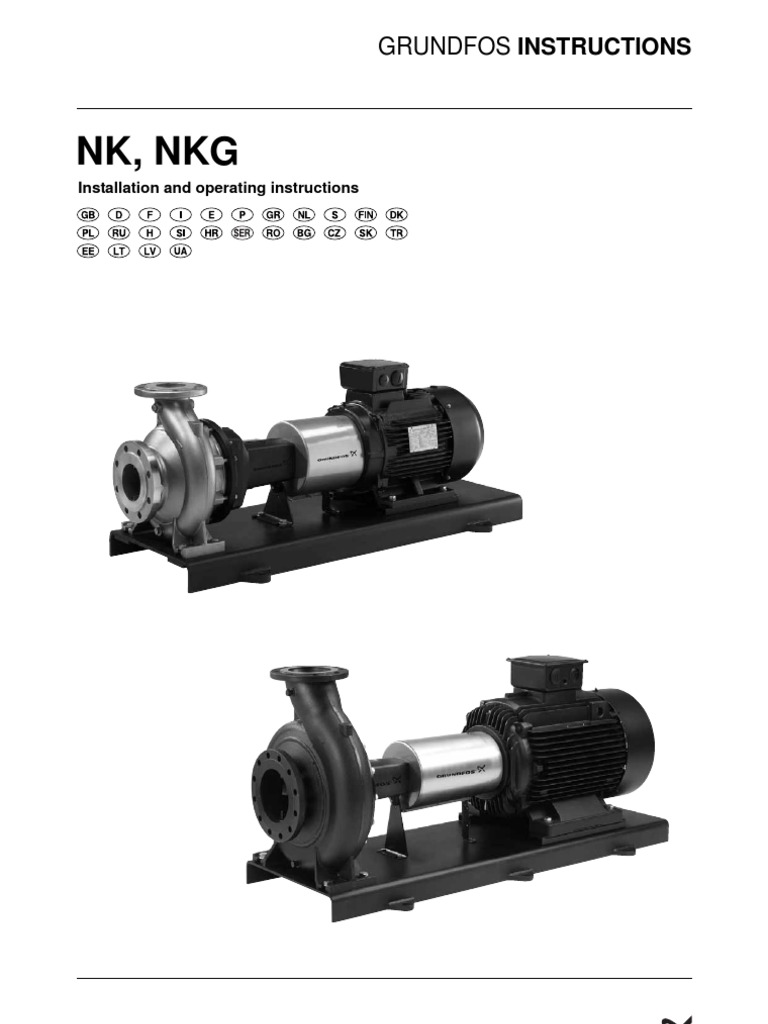 Grundfos Nkg Installation Pump Applied And Interdisciplinary Physics Wiring Instructions