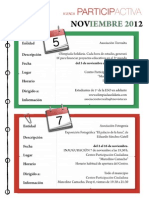 Agenda Participactiva mes de Noviembre