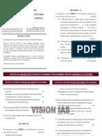 Political Science Mains 2009 Paper i Vision Ias