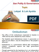8 (B) Lokpal and Lok Ayukta
