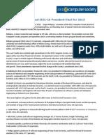Dejan S. Milojicic Voted IEEE-CS President-Elect for 2013