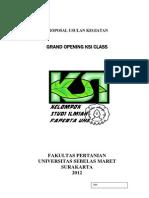 PROPOSAL Grand Opening KSI Class