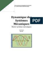 Cours-Dynamique des Systèmes Mécaniques