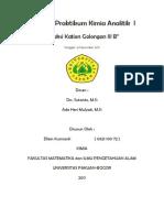 Kimia Analitik I-Golongan IIIB