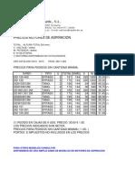 Precios Motoresaspiracion 2012