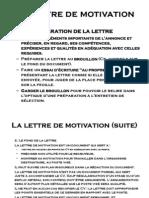 La Lettre Et Le Curriculum Vitae 2012