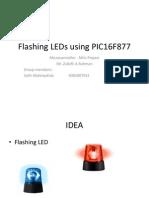 Flashing LEDs Using PIC16F877
