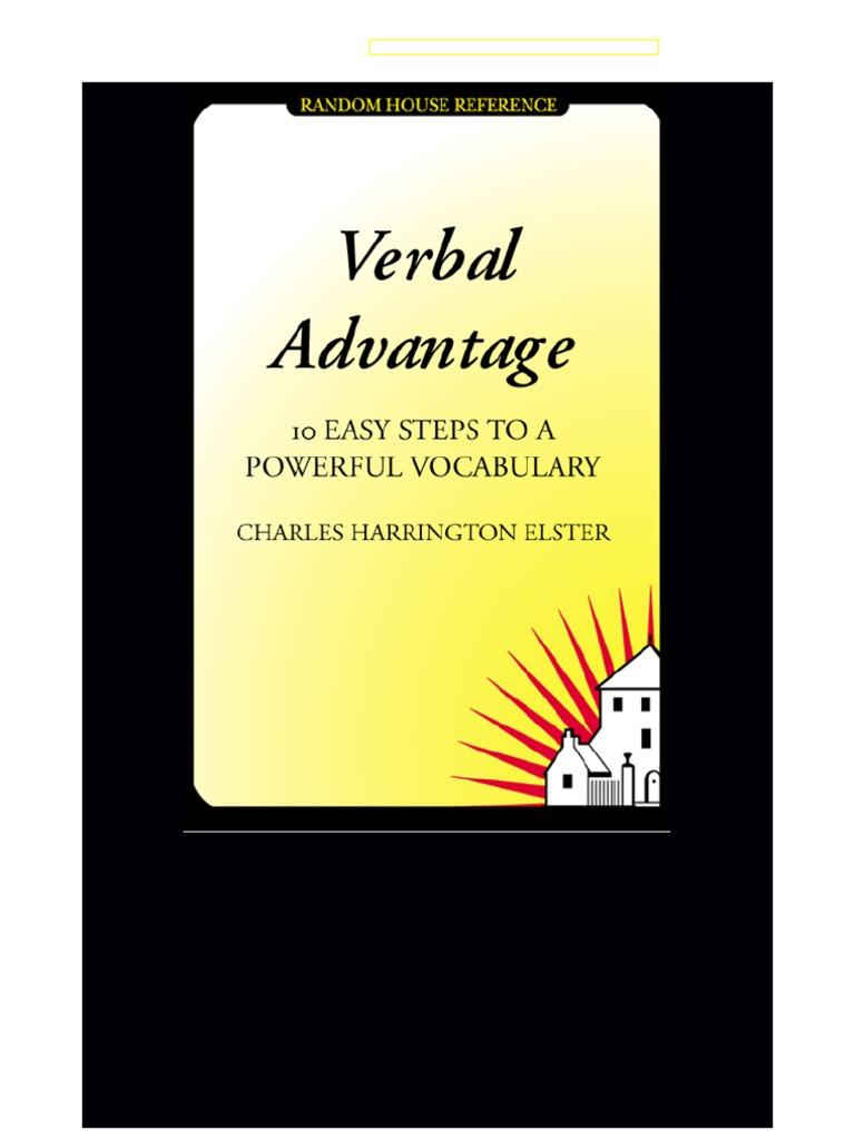Verbal Advantage 10 Easy Steps to a Powerful Vocabulary | Vocabulary |  Hypothesis