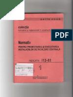 I.13-02 - Normativ Pentru Proiectarea Si Executarea Instalatiilor de Incalzire Centrala